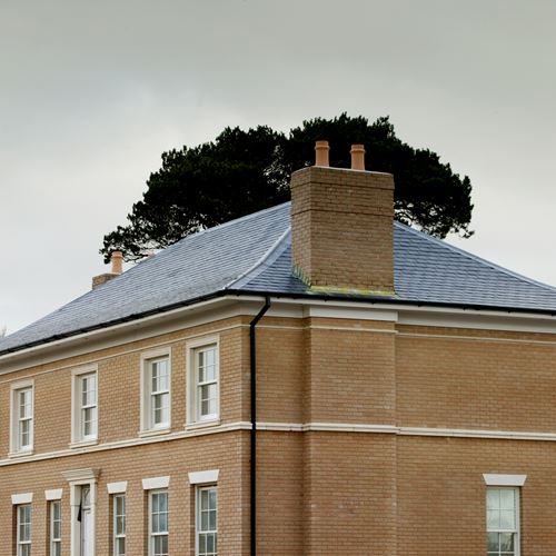 Georgian hipped roof using Classic Blue