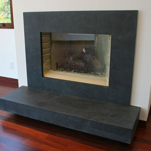 Contemporary Slate Hearth Brazilian
