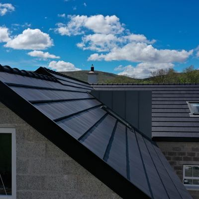 Shetland clay roof tile on new build in Draperstown.jpg